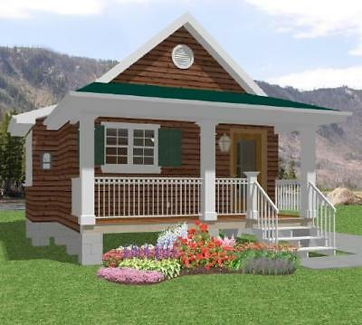 Tiny House Home Building Plans 1 bed Cottage Cabin 518 sf---PDF FULL PERMIT SET