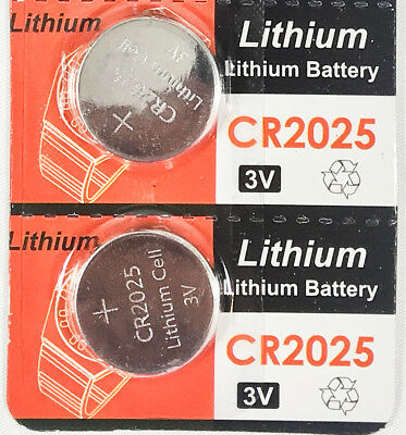 2 CR2025 3V cc Lithium Coin Cell Battery Button Batteries CR 2025 DL 2025 BR