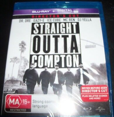 Straight Outta Compton (Dr Dre Eazy E Ice Cube)(Australia Region B) Bluray – NEW