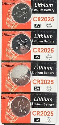 4pc CR2025 3V cc Lithium Coin Cell Batteries Button Battery CR 2025 DL 2025 BR