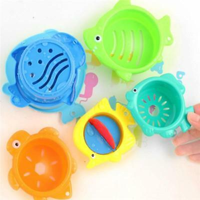 Kids Toddler Infant Creatures Bath Toy Stack Cup Set Tub Shower Play Fun JAZZ