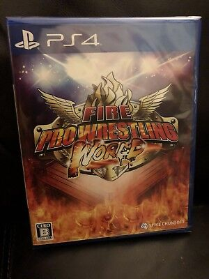 PS4 Fire Pro Wrestling World, Japanese Edition - NJPW - NEW - US SELLER