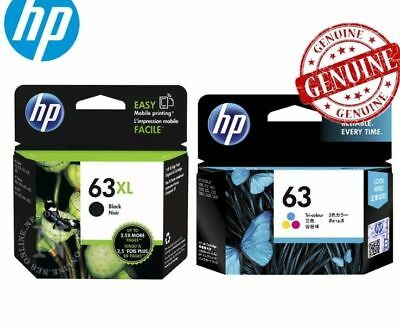 Genuine HP63XL black + HP63 colour Ink Cartridges for HP4650,5220,Envy 5424 5420