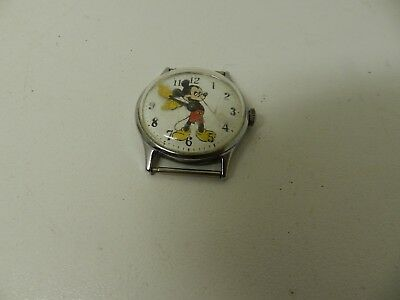 Vintage Men's Mickey Mouse Watch Walt Disney Stainless