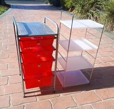 Plastic Drawers And Adjustable Display or Storage Shelves