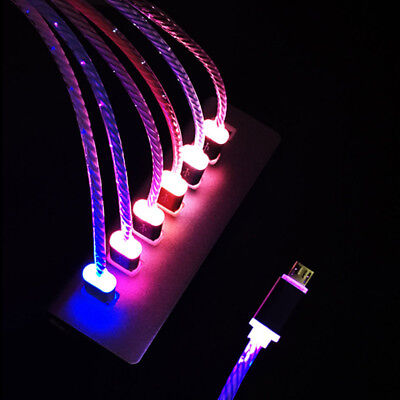 For Android Samsung HTC LED Light-up Glow Micro USB Data Sync Charger Cable Cord