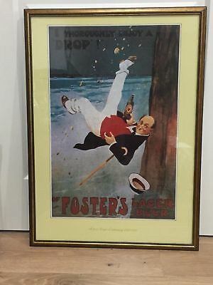 Foster Lager Beer 1888- 1988 Centenary Signed Poster