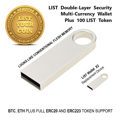LIST Crypto Currency Secure Hardware Wallet ERC20