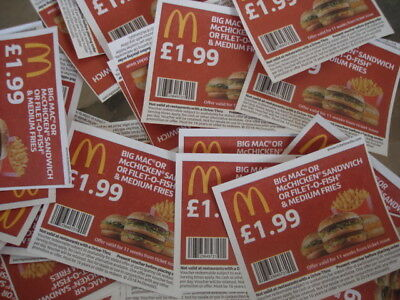 50 McDonalds money off food vouchers no expiry date