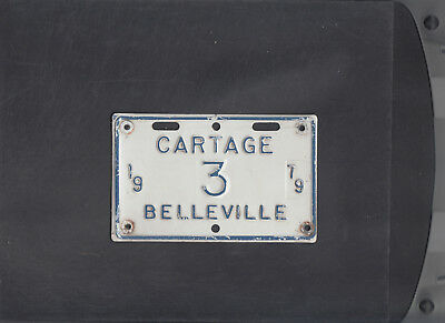 "ONTARIO, Belleville 1979 license plate ""3"" ***CARTAGE***low number"