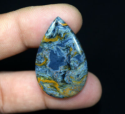 32.25 Cts. 100 % Natural Chatoyant Pietersite Pear Cabochon Loose Gemstones