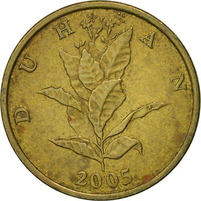 [#545032] Münze, Kroatien, 10 Lipa, 2005, S+, Brass plated steel, KM:6