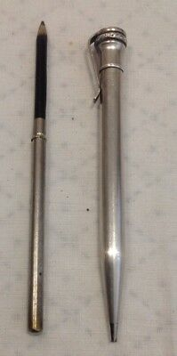 Retractable Pencil - Wahl Evershapr - SilverPlated- Made In USA & Another Pencil