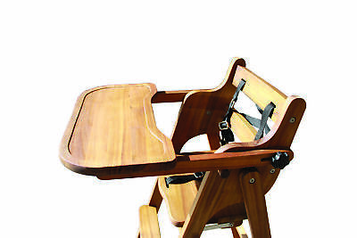 Childcare Pod Timber Baby High Chair Feeding WOODEN Highchair (Acacia)