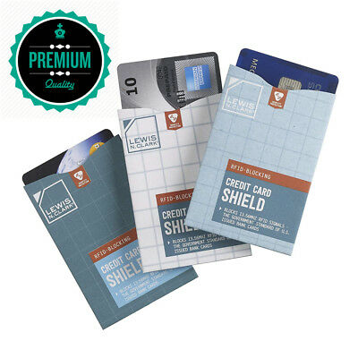 Luggage Rfid 3 Pack Credit Card Shield, Multi, One Size