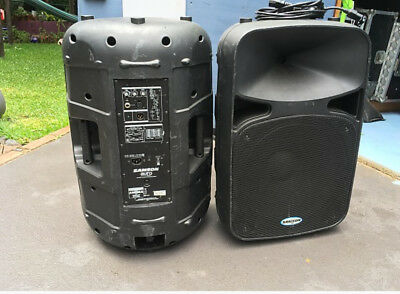 Phonic PA speakers. Pair 15 inch with built in amplifier 400W. Auro D15