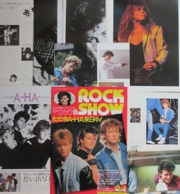 1987 A-ha Morten Harket Paul Magne EUROPE JOEY TEMPEST CLIPPING JAPAN K3 U13 14P
