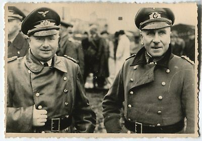 German Wwii Photo From Archive: Luftwaffe Officers