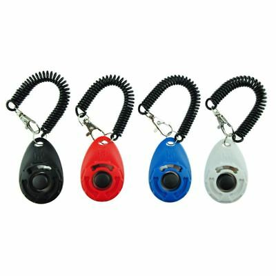 Dog Training Clicker with Wrist Strap - Pet Training Clicker Set (4 color n P2K3