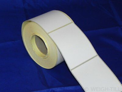 58mm x 76mm Plain White Thermal Labels