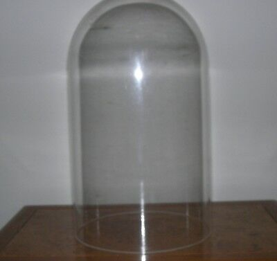 "Vintage Plexi Glass Clock Dome  8"" Tall"