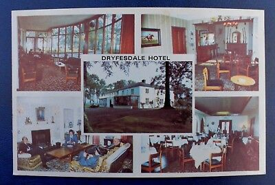 Dryfesdale Hotel,Lockerbie,Dumfriesshire. Hotel Postcard size photograph card.