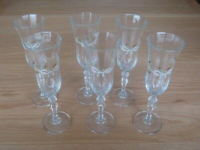 Johnson Brothers Eternal Beau Champagne Flutes / Glasses X 6