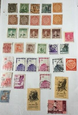 China mixed selection including China Coiling Dragon stamps