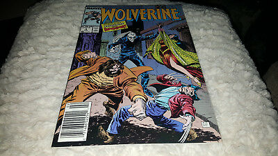 Wolverine #4 1989 Nm-...1St App.  Of Roughhouse And Bloodsport!!!