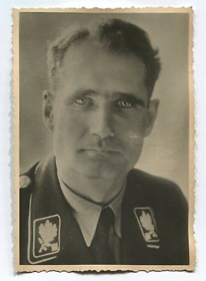 German Wwii Photo From Russian Archive: Man In Uniform