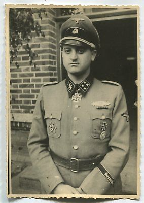 German Wwii Archive Photo: Tankman - Elite Troops Officer, Knight's Cross, Name