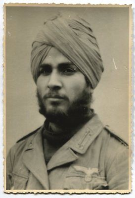 German Wwii Photo From Russian Archive: Sikh Soldier In Wehrmacht Uniform