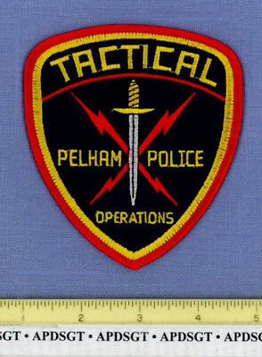 PELHAM ~ SWAT ~ ALABAMA Sheriff Police Patch TACTICAL OPERATIONS SWORD
