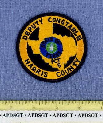 HARRIS COUNTY DEPUTY CONSTABLE Pct 5 (Old Vintage) TEXAS Sheriff Police Patch 3""
