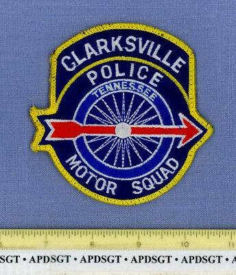 CLARKSVILLE MOTOR SQUAD TENNESSEE Sheriff Police Patch TRAFFIC MOTORCYCLE WINGED
