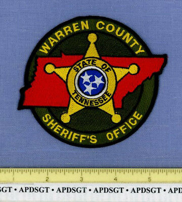 WARREN COUNTY SHERIFF TENNESSEE Police Patch STATE SHAPE GOLD STAR