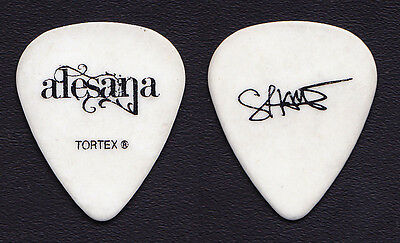 Alesana Shane Crump Signature White Guitar Pick - 2010 Warped Tour