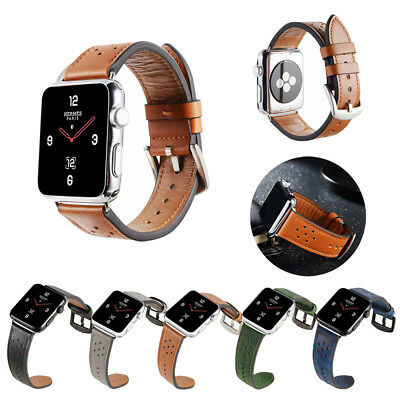 38/42/40/44mm Genuine Leather iWatch Band Strap Bracelet for Apple Watch 4 3 2 1