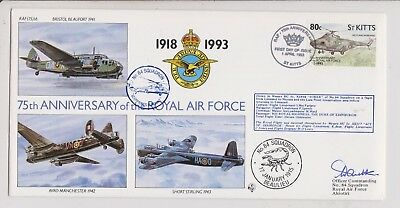 RAF FDC  - St Kitts - 75th Anniversary of RAF - Signed - 1993 - (1407) (X)