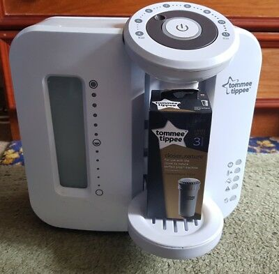 Tommee Tippee Perfect Prep Machine - White - with new filter