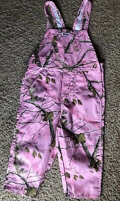 Pink Camo Bibs 3T Lil Joey Pants Winter Fall Realtree Baby Girl Toddler