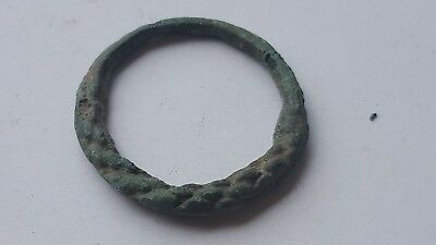 Ancient Old Medieval Bronze Ring. 9-10 century A.D