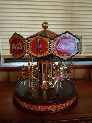 Rare Limited Edition Coca Cola Musical Carousel from the Franklin Mint
