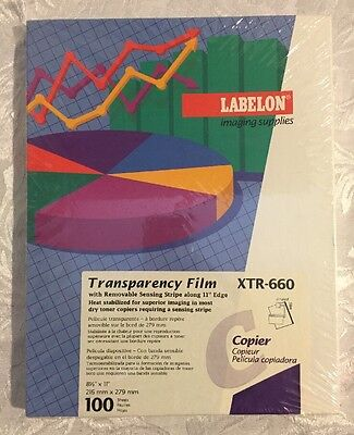 Labelon Imaging Supplies Transparency Film 8.5x11 100 Sheets XTR-660 Copier