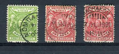 1896-1903 British East Africa Stamps,Queen Victoria Sc#72-73 Used