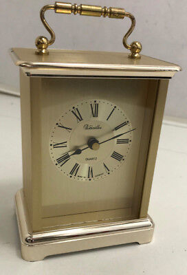 Authentic Versailles Solid Brass Carriage Clock Quartz Movement - German Made