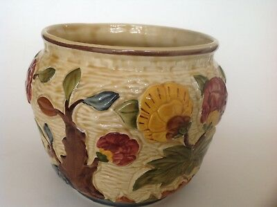 Vintage Indian Tree Planter Hand Painted by H J Wood Staffordshire
