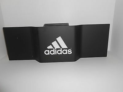 "Adidas Store Display Advertising Metal Slatwall Sign 24 1/2"" W 3.5 LBS"