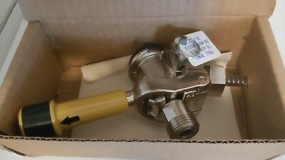 """Perlick """"Lever Tap"""", Keg Coupler, Model 26000D-AB, New Old Stock with box"""