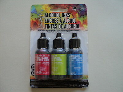 TIM HOLTZ Adirondack Alcohol Ink 3 Pk 'DOCKSIDE PICNIC' BNIP **LOOK**